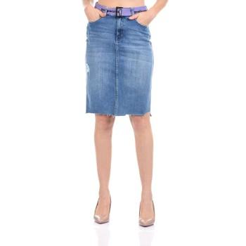 Madame Women Casual Wear Blue Denim Skirt