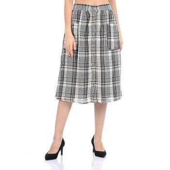 Madame Women Casual Wear Black A-Line Skirt