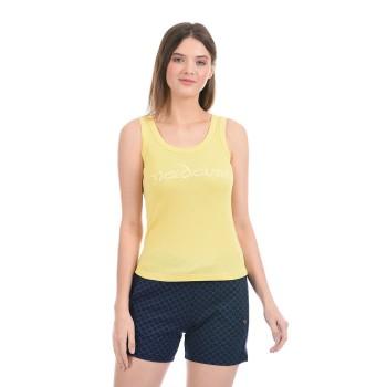 Madame Women Casual Wear Yellow Cami Top
