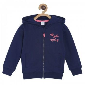 Miniklub Girls Navy Solid Sweatshirt