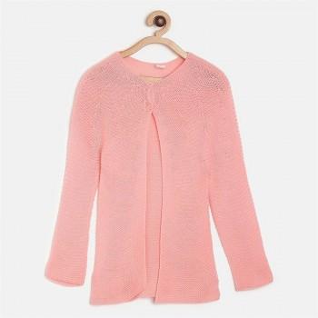 Miniklub Girls Pink Solid Sweater