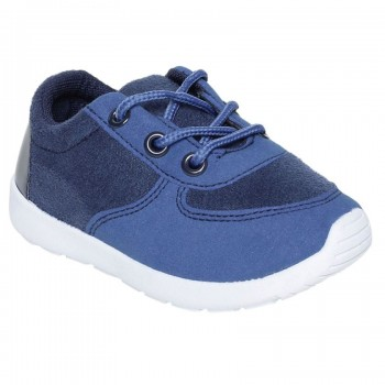 Miniklub Boys Textured Navy Blue Pair of Shoes