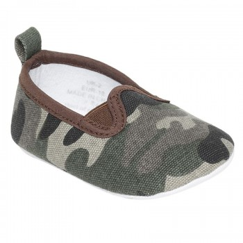 Miniklub Boys Green Textured Softsole Shoes
