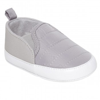 Miniklub Boys Grey Solid Softsole Shoes
