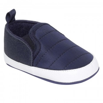 Miniklub Boys Navy Blue Solid Softsole Shoes