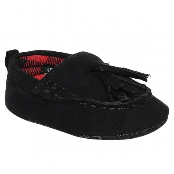 Miniklub Boys Black Solid Softsole Shoes