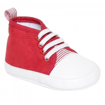 Miniklub Boys Red Color Block Softsole Shoes