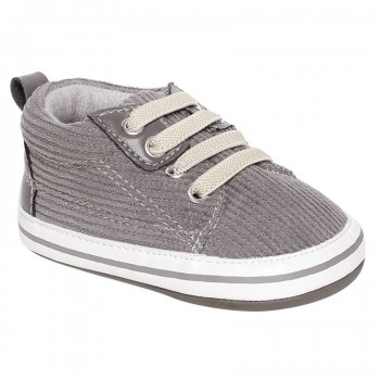 Miniklub Boys Grey Textured Softsole Shoes