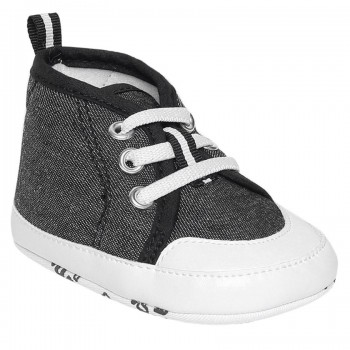 Miniklub Boys Black Textured Softsole Shoes