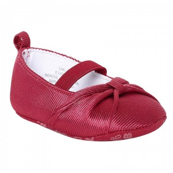 Miniklub Girls Textured Red Pair of Softsole Shoes