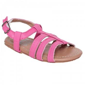 Miniklub Girls Pink Solid  Hardsole Sandals