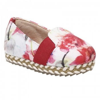 Miniklub Girls Floral Print Pink Pair of Hard Sole Shoes