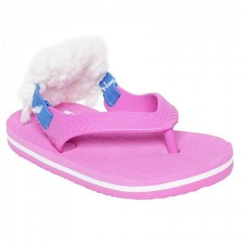 Miniklub Girls Pink Solid Hardsole Slippers
