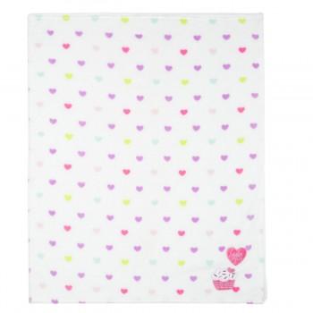 Miniklub Unisex Printed White Blanket