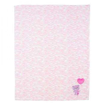 Miniklub Unisex Printed Pink Blanket