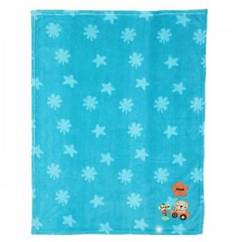 Miniklub Unisex Printed Blue Blanket