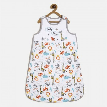 Miniklub Unisex White Printed Sleeping Bag