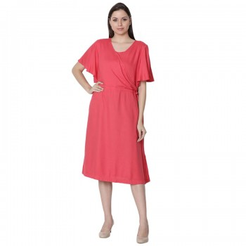 Miniklub Women Solid Red Dress