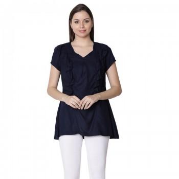 Miniklub Women Solid Blue Nursing Top