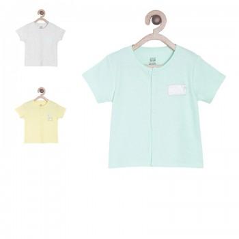 Miniklub Boys Multicolor Solid Pack of 3  Vest Tops