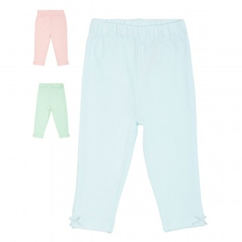 Miniklub Girls Multicolor Solid Pack of 3 Bottoms