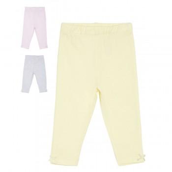 Miniklub Girls Multicolor Solid Pack of 3 Knit Pyjamas