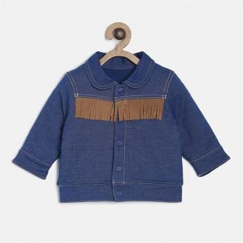 Miniklub Boys Blue Solid Jacket