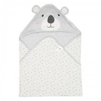 Miniklub Boys Printed Grey Baby Wrapper