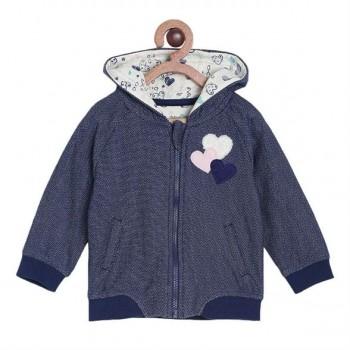 Miniklub Girls Navy Textured Jacket
