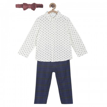 Miniklub Boys Multicolor Printed pack of a Shirt, a Trouser & a Bow