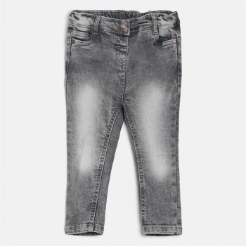 Miniklub Girls Grey Solid Jeans