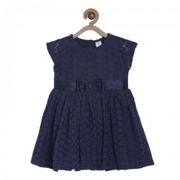 Miniklub Girls Blue Textured Dress