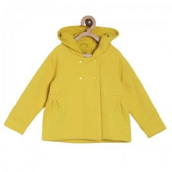 Miniklub Girls Yellow Solid Jacket