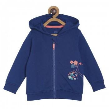 Miniklub Girls Navy Solid Jacket