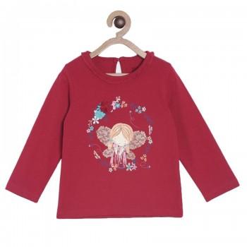 Miniklub Girls Red Printed Top
