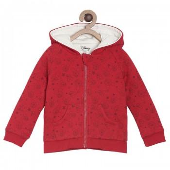 Miniklub Unisex Red Printed Jacket