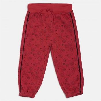 Miniklub Unisex Red Printed Joggers