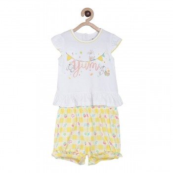 Miniklub Girls Multicolor Printed Pack of a Top & a Bottom