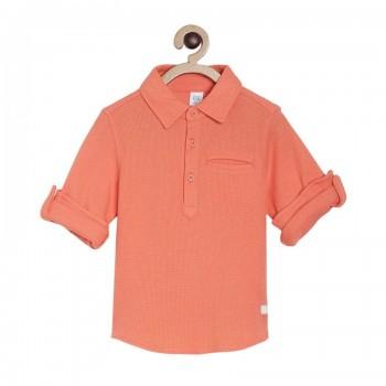 Miniklub Boys Orange Solid Shirt