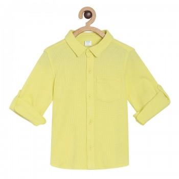 Miniklub Boys Yellow Solid Shirt