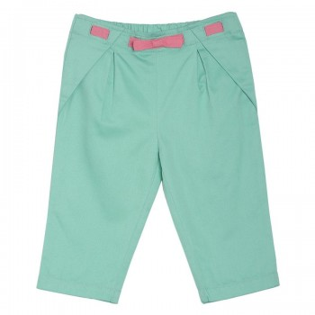 Miniklub Girls Green Solid Capri