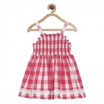 Miniklub Girls Red Checkered Dress