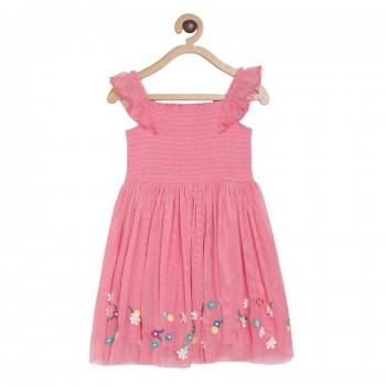 Miniklub Girls Pink Embellished Dress