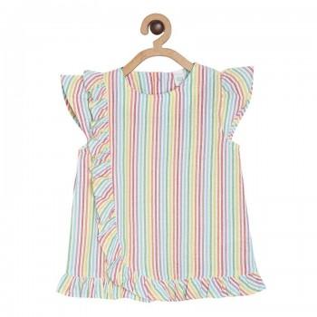 Miniklub Girls Multicolor Striped Top