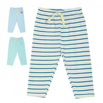 Miniklub Boys Multicolor Striped Pack of 3 Bottoms