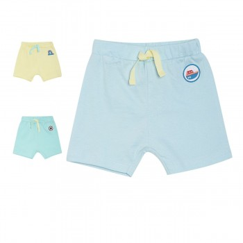 Miniklub Boys Multicolor Solid Pack of 3 Shorts