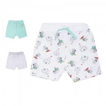 Miniklub Boys Multicolor Printed Pack of 3 Shorts