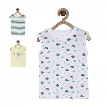 Miniklub Boys Multicolor Printed Pack of 3 Tshirts