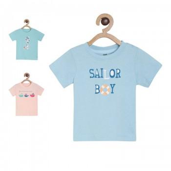 Miniklub Boys Multicolor Graphic Print Pack of 3 Tshirts