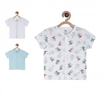 Miniklub Boys Multicolor Printed Pack of 3  Vest Tops